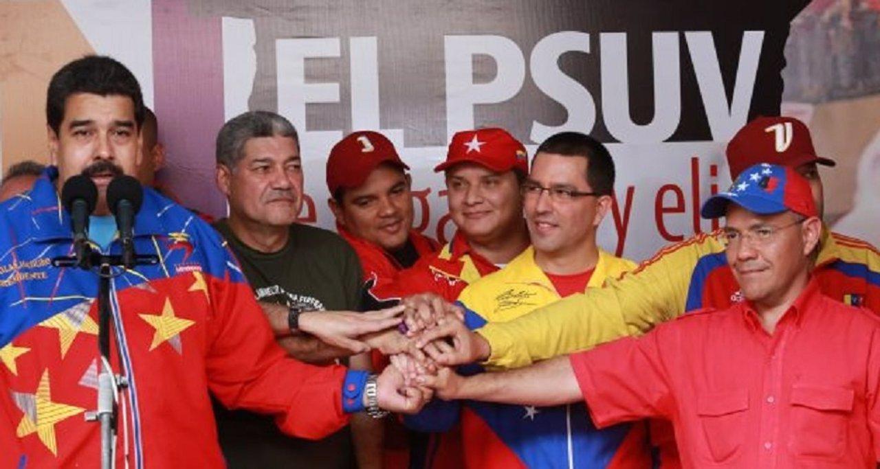 Nicolás Maduro en las elecciones internas del PSUV.