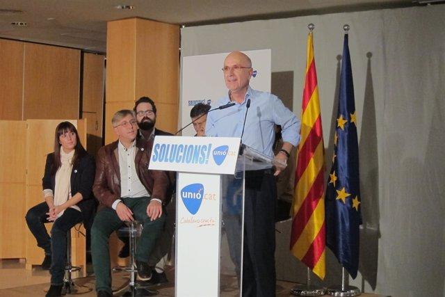 El candidato de Unió a las elecciones generales, Josep Antoni Duran