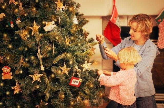 Navidad, familia, niños