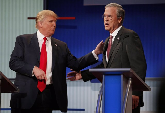 Donald Trump y Jeb Bush