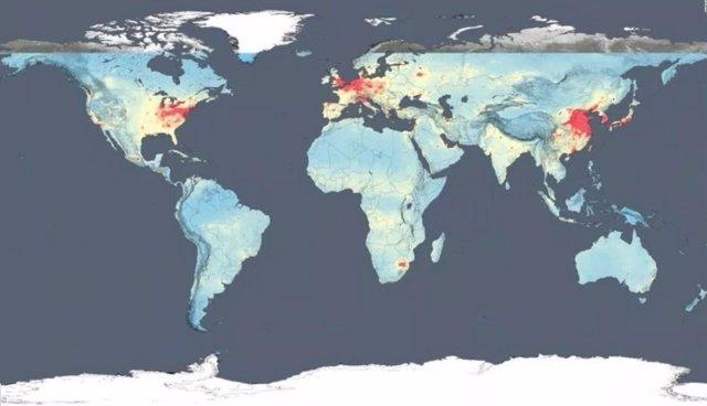 Los países más contaminados según la NASA
