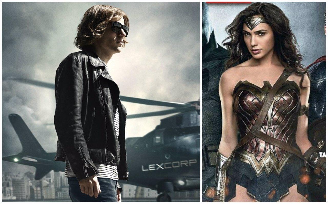 Jesse Eisenberg y Gal Gadot como Lex Luthor y Wonder Woman en Batman v Superman