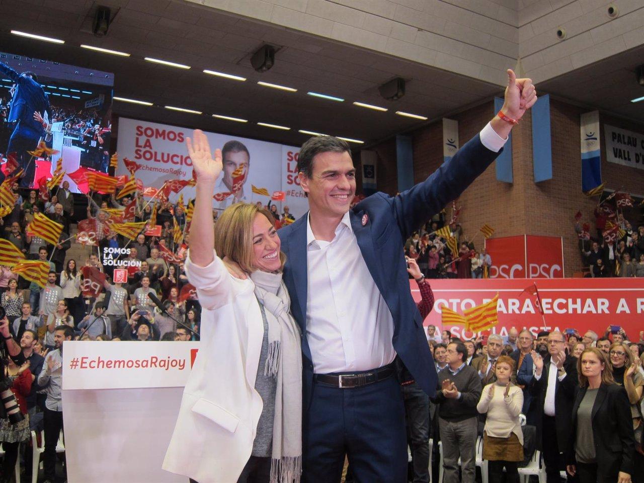 Carme Chacón (PSC) Pedro Sánchez (PSOE)