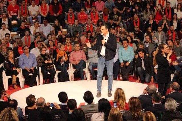 Pedro Sánchez cierra campaña en Fuenlabrada (Madrid)
