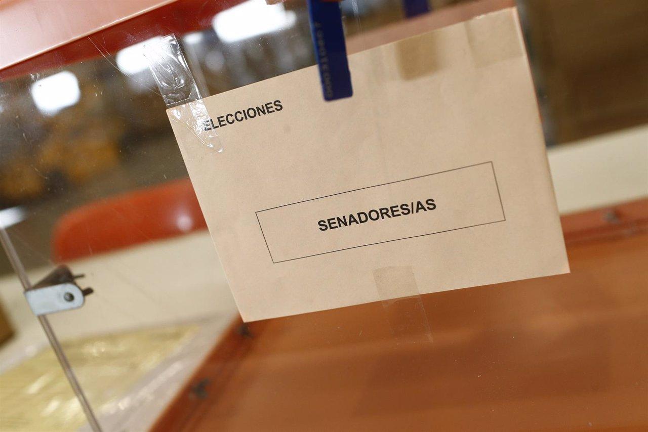 Recursos de elecciones generales 2015, Senado, Cortes Generales, senadores, urna