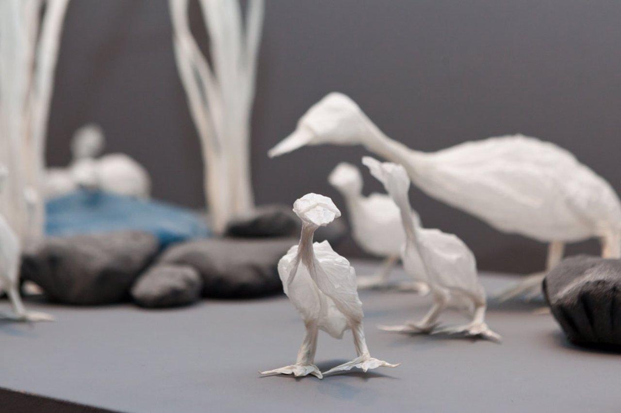 Cisnes de origami de Junior Jacquet