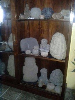 Piezas arqueológicas halladas en redada