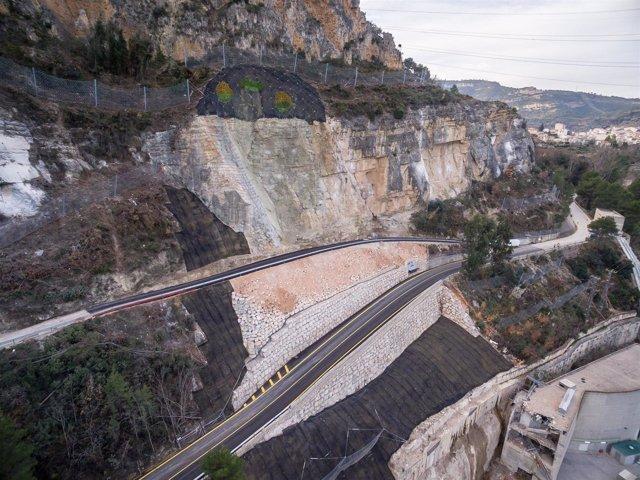Imagen del tramo de carretera tras las obras