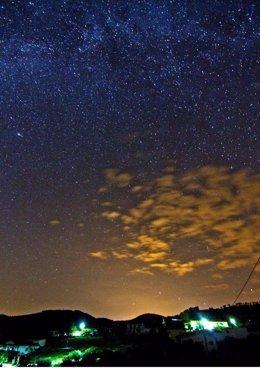 Imagen del cielo nocturno en la Sierra Sur de Jaén.
