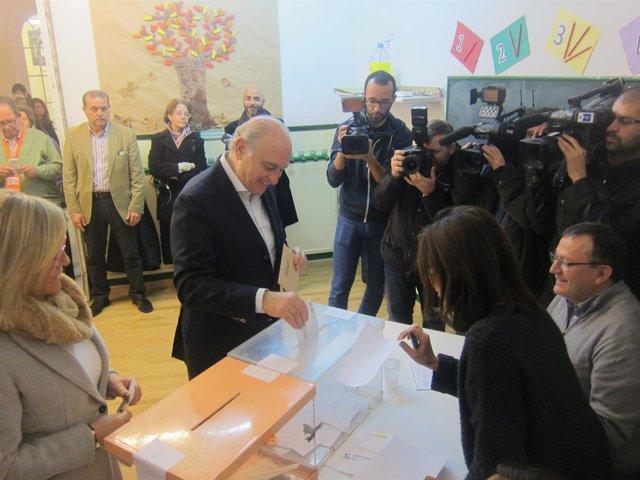 Jorge Fernández vota el 20D
