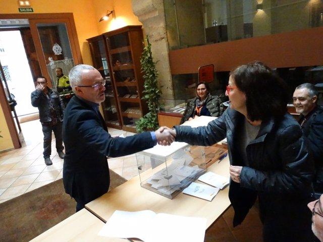 Montiel vota para las elecciones generales
