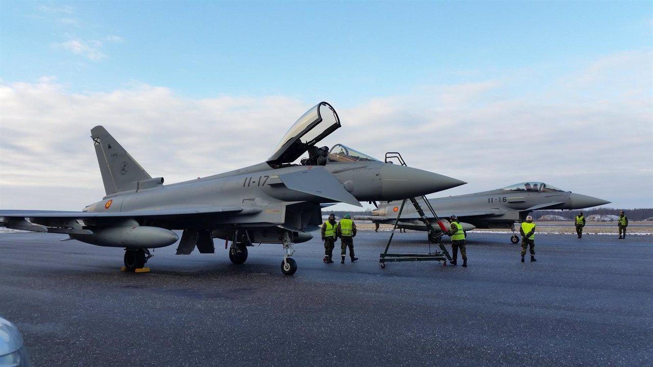 Dos cazas Eurofighter españoles, en la misión de la OTAN en el Báltico