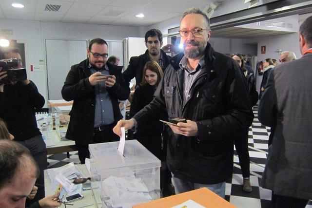 Joan Carles Girauta (C's) vota el 20D