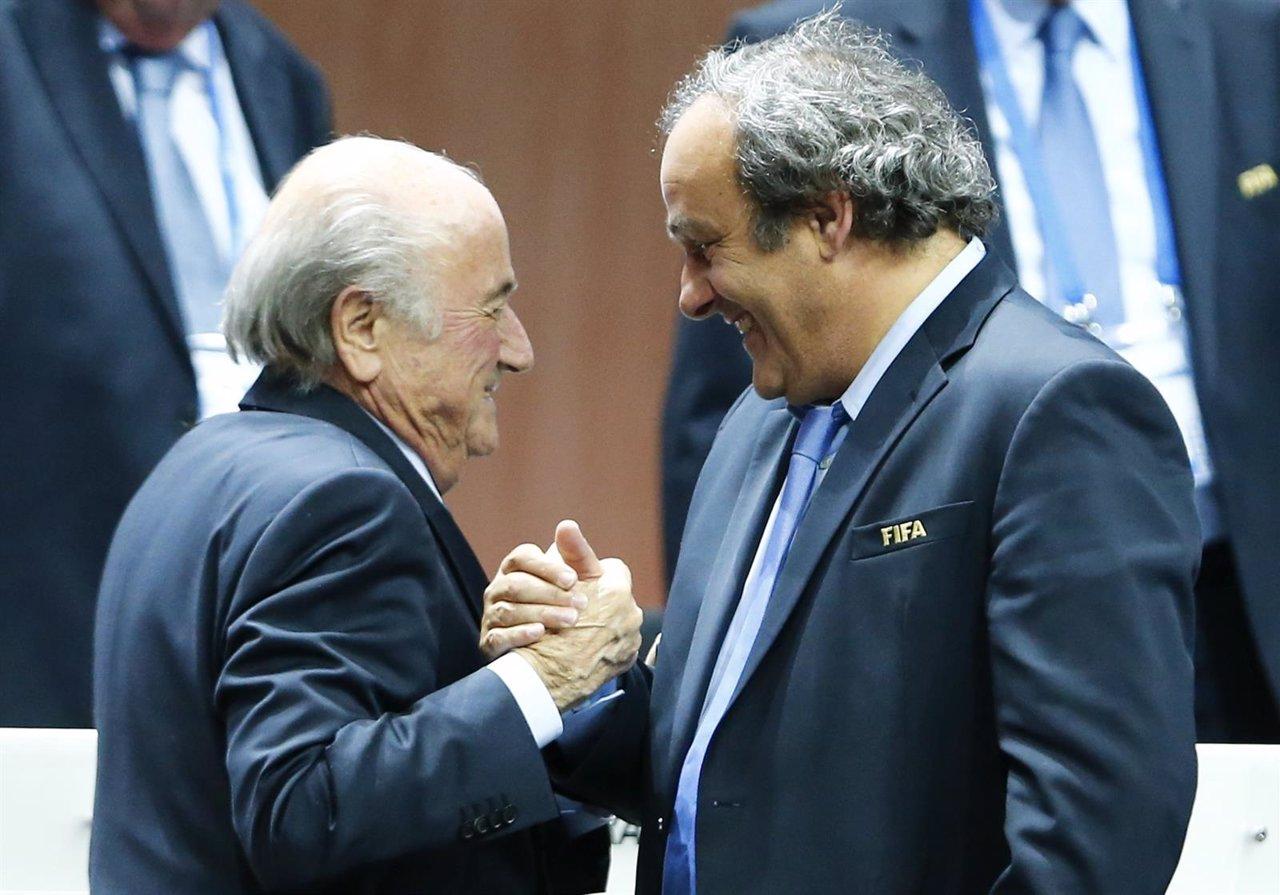 Joseph Blatter Michel Platini UEFA FIFA
