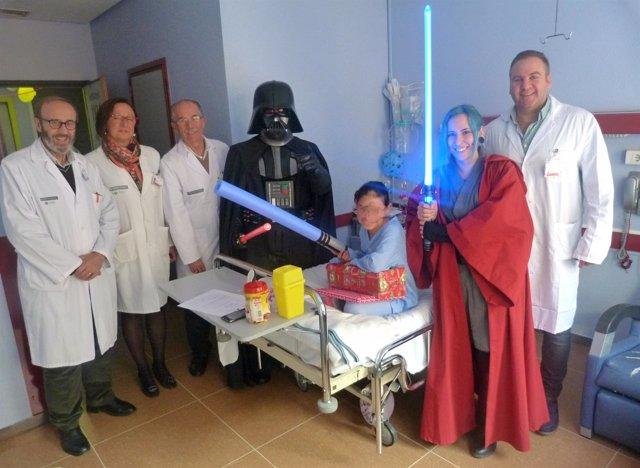Darth Vader y la maestra Jedi