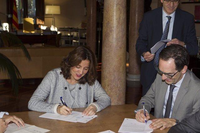 La presidenta de la Diputación de Barcelona, Mercè Conesa
