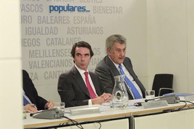 Aznar y Posada en el en el Comité Ejecutivo Nacional del PP