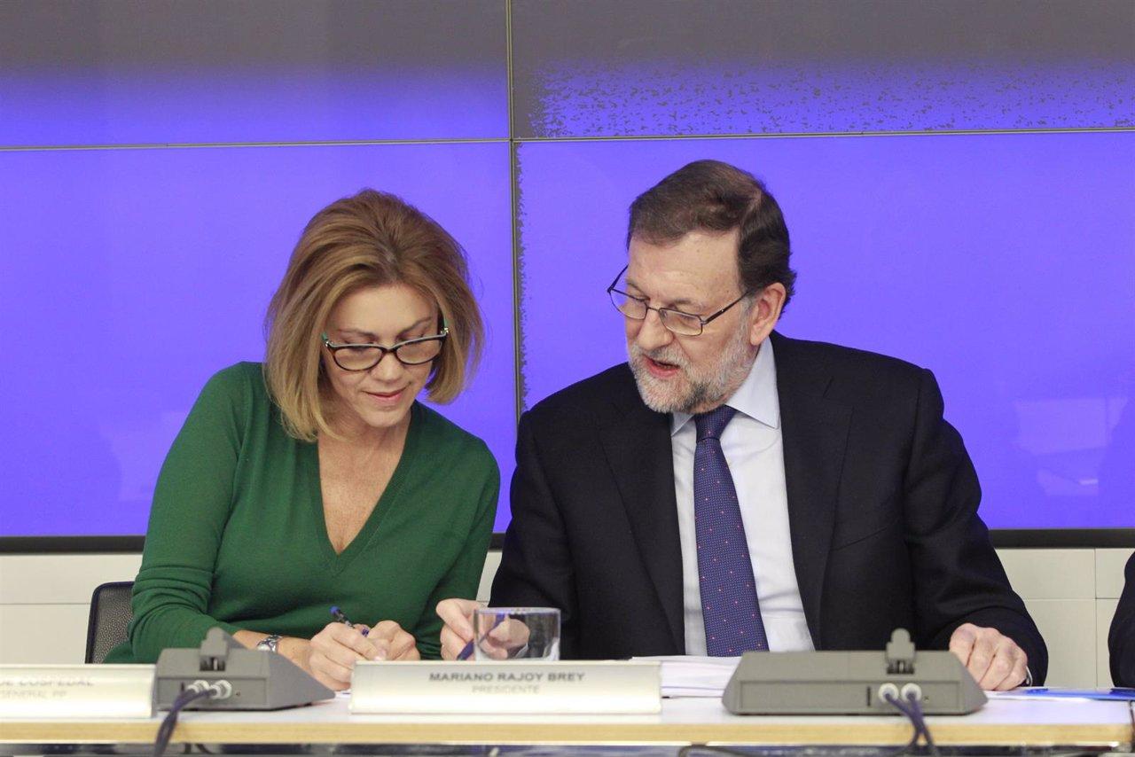 Rajoy y Cospedal en el Comité Ejecutivo del PP