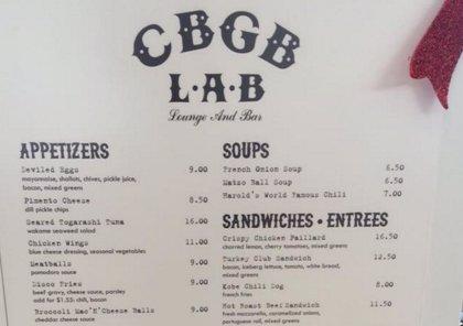El local punk CBGB reabre convertido en un restaurante de aeropuerto