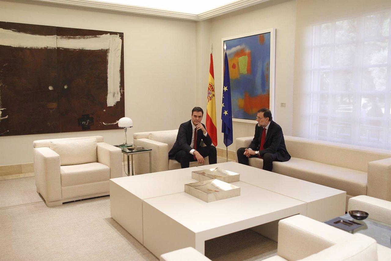 Mariano Rajoy y Pedro Sánchez, reunión en la Moncloa