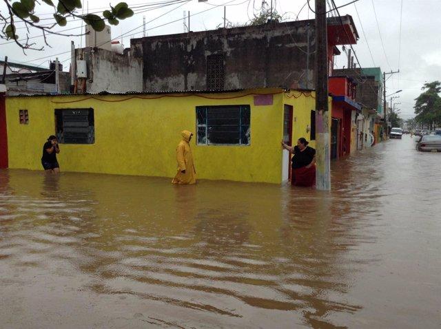 Desbordamiento en México, inundación