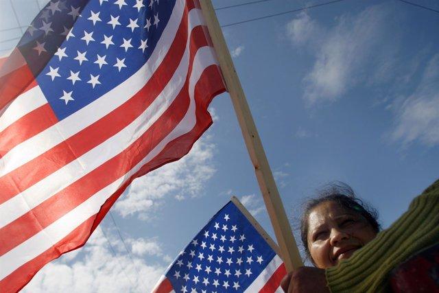 Marcha por derechos de inmigrantes en EEUU