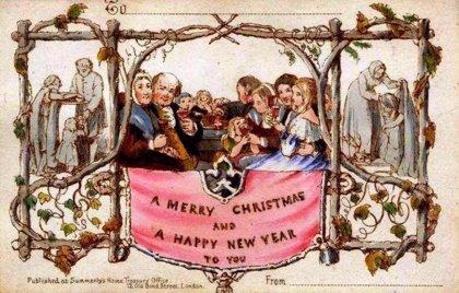 El origen de las tarjetas navideñas para desear Felices Fiestas