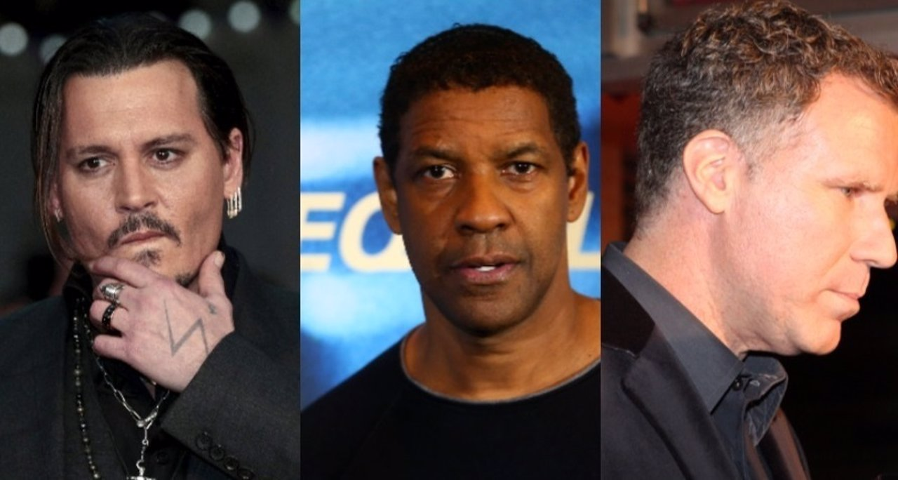 Johnny Depp, Denzel Washington, Will Farrel
