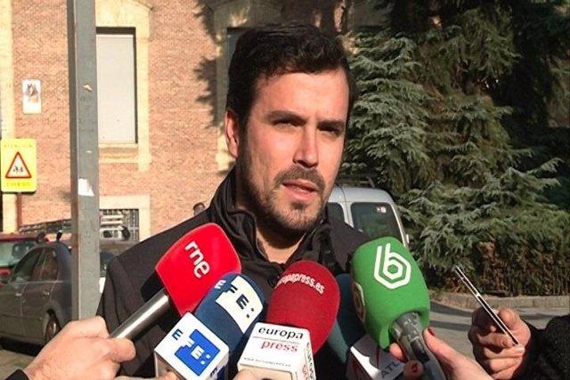 El Candidato De IU-Unidad Popular, Alberto Garzón,