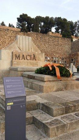 Tumba del presidente de la Generalitat  Francesc Macià. Cementerio de Montjuïc