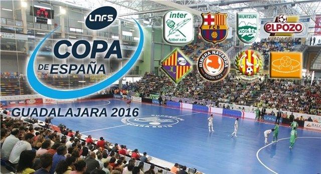 Cartel de la XXVVII edición de la Copa de España de fútbol sala