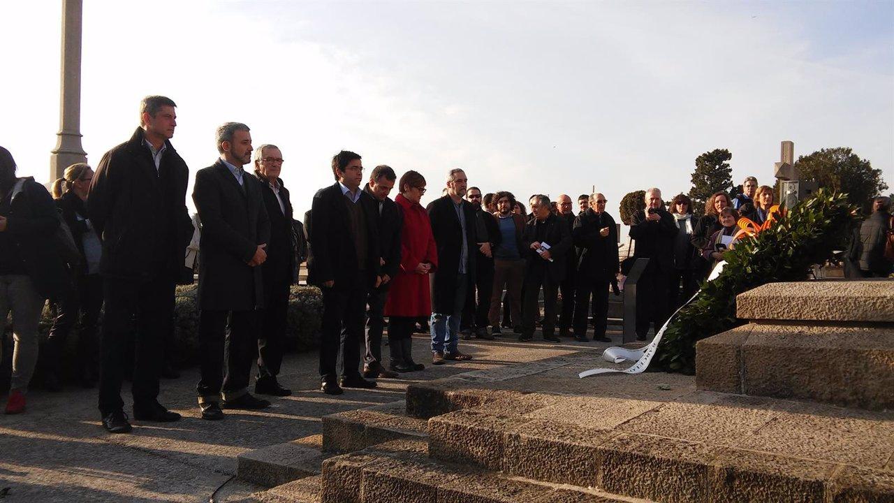 El teniente de alcalde Gerardo Pisarello en el homenaje al presidente Macià