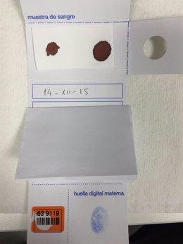 Técnica de identificación de neonatos en el Hospital de Gandia