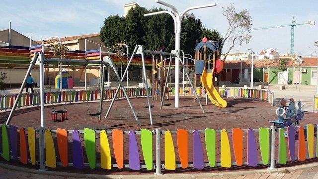Imagen de la zona infantil del barrio del Espíritu Santo