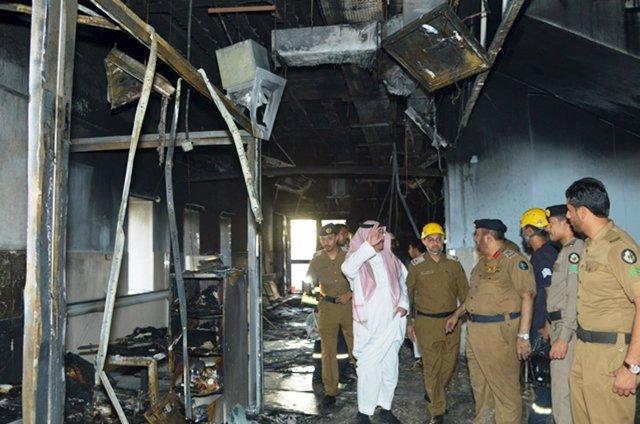 Incendio en el Hospital General de Jazan