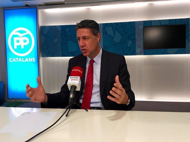 El líder del PP en el Parlament, Xavier García Albiol