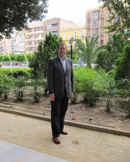 José Guillén PP en el Jardín Floridablanca