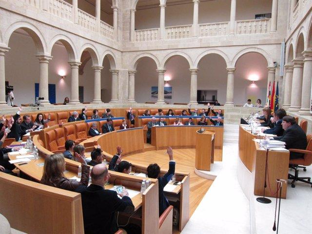 Votación pleno de presupuestos de La Rioja