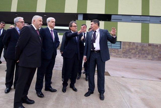 El conseller G.Gordó y el pte.Artur Mas inauguran la cárcel de El Catllar