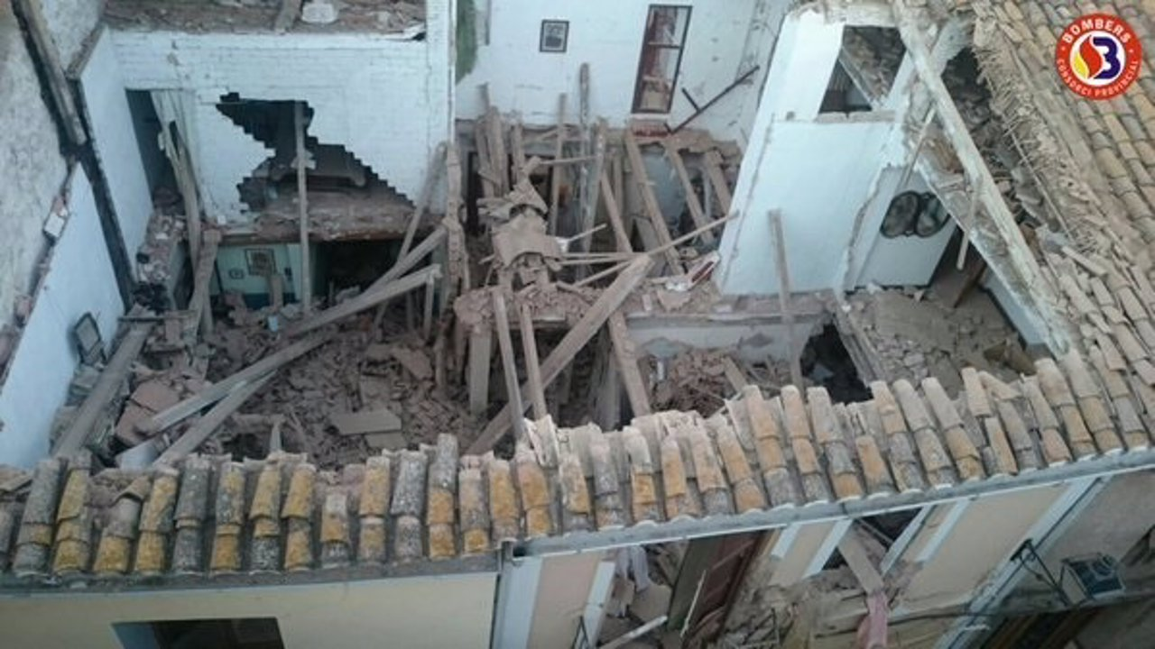 Casa derrumbada en El Puig