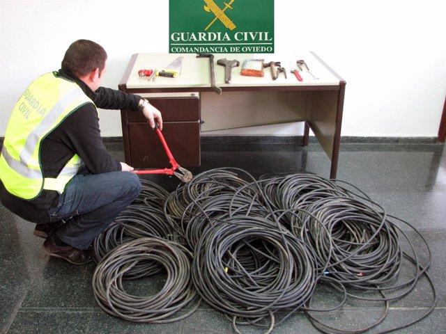 Robo de cable en Asturias