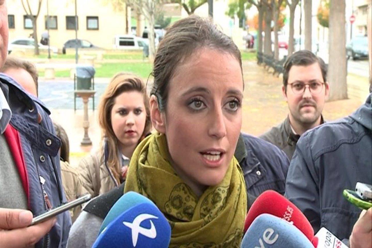 Andrea Levy en Almendralejo