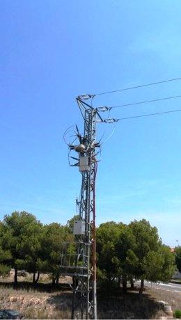 Línea de media tensión con telecontrol