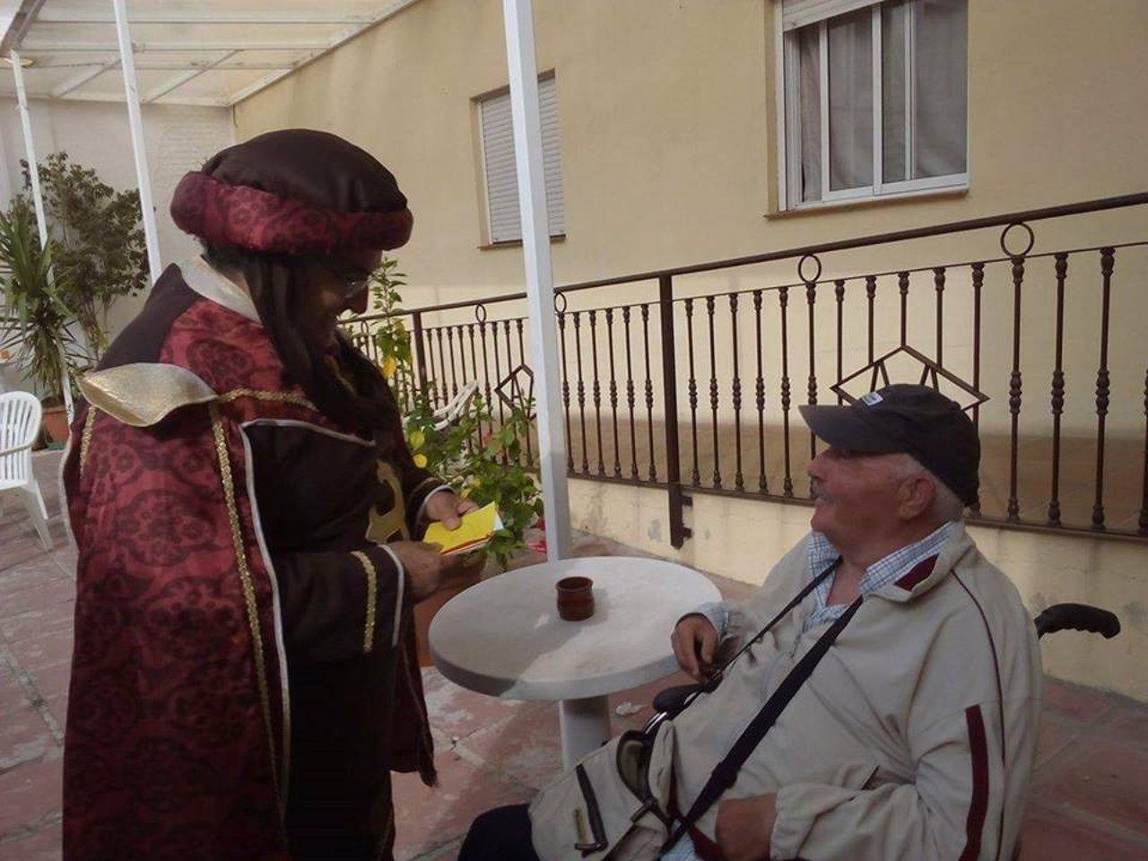 Cartero real en el Asilo de los Ángeles de Málaga