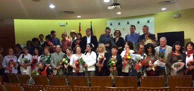 Homenajeados en el Hospital General de La Palma