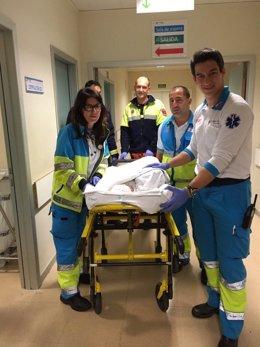 Ingreso de la recién nacida en el Hospital Infanta Sofía