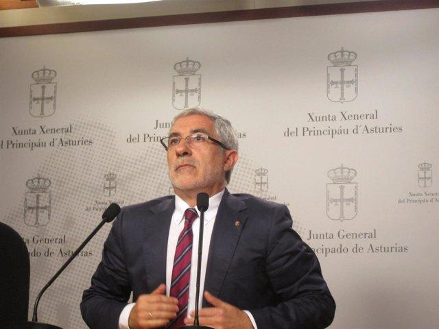 Gaspar Llamazares en la Junta General.
