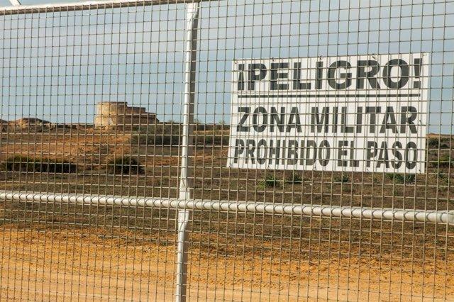 Terrenos del campamento militar.
