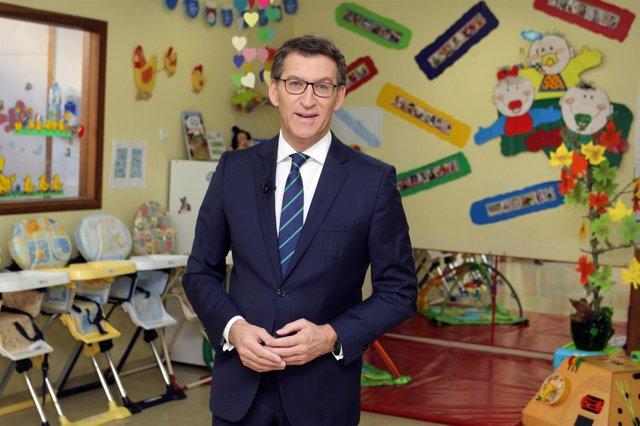 Feijóo lanza su Mensaje de Fin de Año desde una escuela infantil