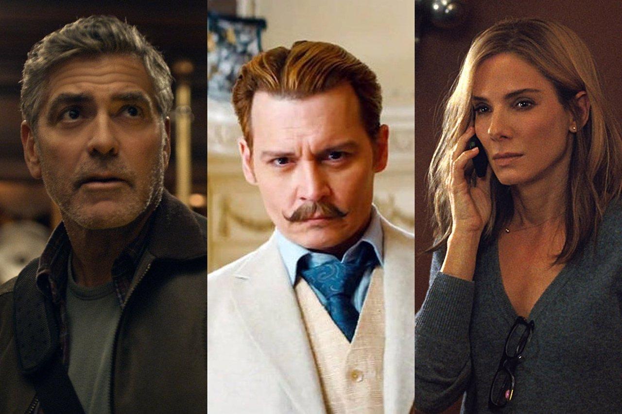 George Clooney, Johnny Depp y Sandra Bullock